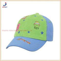 Custom de sarga de algodón deporte del béisbol de la tapa de los niños Moda niños Hat Cap con bordados Gorra sombrero