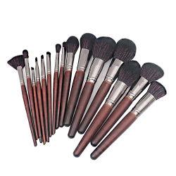Berufshilfsmittel-Verfassungs-Pinsel-Set der kosmetik-15PCS mit hölzernem Griff