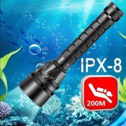 Подводные подводное плавание с аквалангом Водонепроницаемый светодиодный фонарик 100 метров с аквалангом горелки