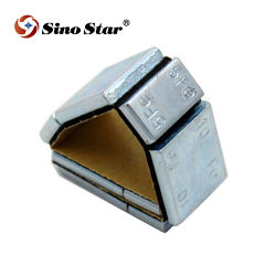Stahlstock F.E.-Ss-Fe2 auf anhaftenden Rad-Wuchtgewichten