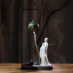 De Gift van Kerstmis, de Gift van de Vakantie, de AchterBrander van de Wierook van de Stroom, het Fornuis van het Sandelhout, de Brander van de Wierook, de Weg van de Wierook, Boeddhistische Ornamenten Zen, #008