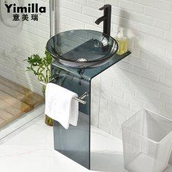الحمام حوض غسل الزجاج حوض زجاجي ملون
