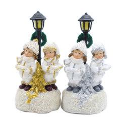 Ambacht van Snowgirl van de Hars van Snowboy van Kerstmis van de Ambacht van Polyresin van de Verkoop van de fabriek de Directe