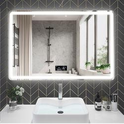 중국 공장 호화스러운 실내 미러 미장원은 목욕탕 LED 가정 호텔 가구를 위한 미러에 의하여 조명된 LED 벽 미러를 비춘다