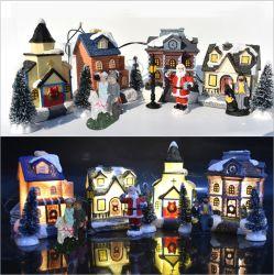 Weihnachtslichter, Geschenke der Kinder Weihnachts, Weihnachtsschnee-Haus, Kind-Geschenk-Set