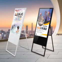 Usine directement offre 43pouces 32pouces 49pouces écran tactile LCD Portable Digital Signage Kiosque Advertisitng joueurs LCD
