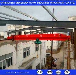 CE/SGS 3t 5t 10T 15t リモートコントロール建設機械移動 工場整備工場 EOT シングル二重女の子ビームオーバーヘッドクレーン スチールワイヤロープホイスト