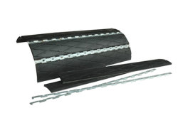 Rivestimento isolante di gomma della puleggia sostituibile del trasportatore con il fermo del metallo