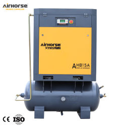 5.5 Kilowatt -15 Kilowatt des beweglichen Typ-Schrauben-Luftverdichter hingen mit Becken 300L, 500L ein