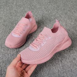 Niedriger Preis-Einspritzung-Großhandelsineinandergreifen Silp auf Form-Frauen-Entwerfer-Breathable Mädchen-Schuh-Turnschuhen