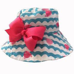 Fábrica de sombreros de moda niños OEM sombrero de la cuchara con arco decoración sol de verano Hat