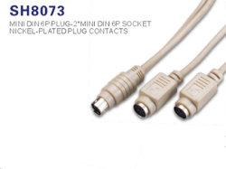 Mini DIN 6 broches mâle à femelle pour câble de clavier/souris