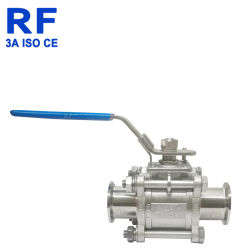 RF Dn 304 스테인리스 위생 Fulll 포장은 빠른 3개 피스 공 벨브를 설치한다