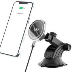 새로운 차 충전기 iPhone 12 Magsafe 15W 자석 무선 충전기 차를 위한 무선 자석 이동 전화 무선 충전기
