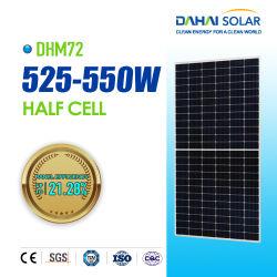 Ideal Dahai 182 mm 540W 550W 560W 570W 580W Precio barato Hal Celda PV Panel Solar monocristalino con CE TUV ISO 25 años de garantía