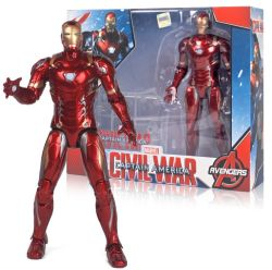 Groothandel PVC Marvel Action Figure Plastic Toy met transparante beugel