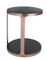 Fashion Rose Gold Estrutura da mesa de café em aço inoxidável para mobiliário ronda de Base