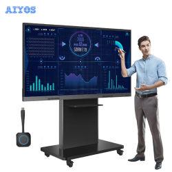 아이오스 55 65 75 86인치 듀얼 OS 터치 스크린 회의실 및 학교를 위한 대화형 스마트보드 화이트보드