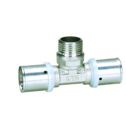 Appuyez sur les raccords du raccord en T mâle pour l'aluminium Tuyau en plastique