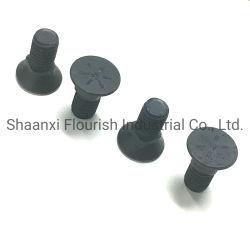 Черный плоский Countersunt плужные болты головки блока цилиндров с помощью гаек