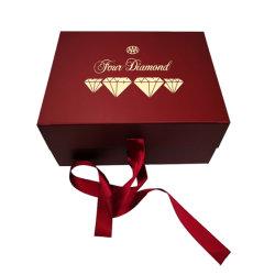 Kundenspezifische Weihnachtsapple-Uhr-Süßigkeit-Schokolade, die aufbereiteten Luxuxpapiergeschenk-Kasten-Satz für T-Shirt und Farbbänder verpackt