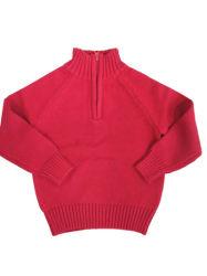 子供の子供の半分のジッパーが付いているBoys100%Cottonによって編まれるプルオーバーのセーター
