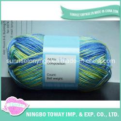 Comprar en línea Hilados de tejer lana acrílico mezclado 4 capas de hilo