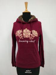 Frauen-Pelz Hoodie Sweatshirt-Kleid