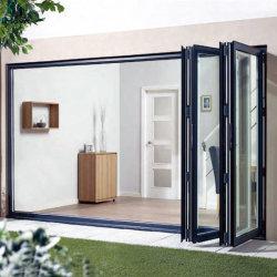 Interior design Bifold Vidro Alumínio Dobrar/Bifolding Varanda porta a porta corrediça para Villa