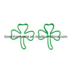 Forma de folhas verdes de clipe de papel personalizado