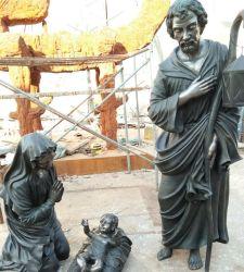 Jardin extérieur OEM Bronze/en marbre/statue de pierre Sculpture de la Sainte Famille
