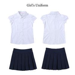 Nouveau design uniforme scolaire des enfants chemise pantalon pour les Garçons Filles