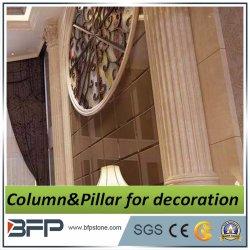 De beige Binnenlandse Decoratieve Marmeren Kolom van de Kleur