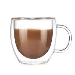 ハンドルが付いているベストセラー180ml二重壁のコーヒー・マグ