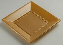 9'' (23cm) S092319 de plástico desechables PS Brown Square Plato
