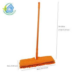 Mop piano lati telescopici magici appiccicosi di Microfiber dei doppi per la pulitura facile del pavimento secca ed umida (1016)