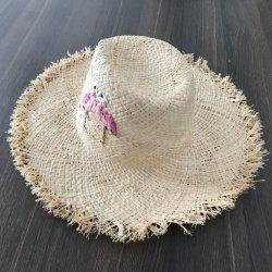 Cappello di paglia tessuto rafia Handmade di modo di estate per le ragazze