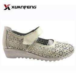 TPR 발바닥을%s 가진 좋은 형식 여자의 우연한 가죽 신발