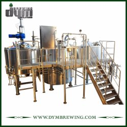 Aangepaste Industriële Directe Brand die de Apparatuur van het Bierbrouwen van de Ambacht van 3 Schepen Voor de Brouwerij van de Brouwerij of van de Bar verwarmen
