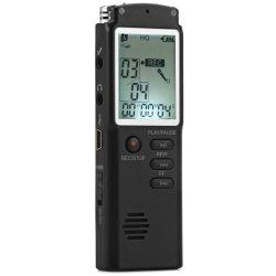 8GB Berufsdigital Audiosprachaufzeichnungsanlage mit Echtzeitbildschirmanzeige ein Schlüssel-Verschluss-Bildschirm-Telefon-Aufnahme-MP3-Player