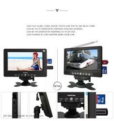 """OEM 7 TV van de Holding van TV van de """" LEIDENE MiniAuto van de Grootte in de Multimedia van TV van TV van de Vertoning van de Palm Mini Draagbare tft-GELEIDE Digitale Analoge"""