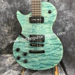 Bleu de gauche personnalisée en usine matelassée couleur haut de la guitare