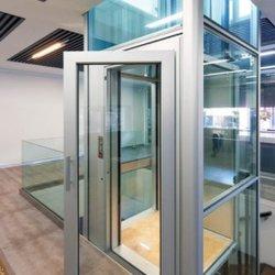 2 personas utilizan Joylive barato de vidrio pequeño ascensor ascensores de casa en venta