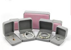 가죽 우단 보석 저장 상자 보석 반지 귀걸이 펀던트 목걸이 보편적인 패킹 선물 상자 (YSD89)