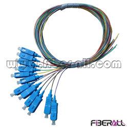 12 Sc-Faser-Optikzopf der Kern-0.9mm mit 12 Farben