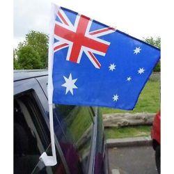 Custom дешевые полиэфирная ткань Car боковое окно баннер Страны Австралия Car флаг
