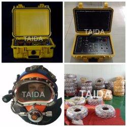 Video strumentazione del casco di immersione subacquea di tuffo del trasmettitore di comunicazione radio dell'operatore subacqueo commerciale