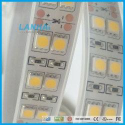 12V 5050 120LED SMD/m de fileira dupla branca LED de luz da fita de tiras