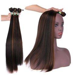 Hochtemperaturzoll3pieces/lot Afro-synthetisches Haar P1/30# des faser-synthetischer gerader Wellen-blonden Haar-16-20 für schwarze Frauen