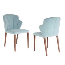 Usine de tissu vert classique en bois chaise de salle à manger